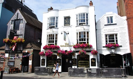 The Cricketers and Black Lion pubs in Brighton.