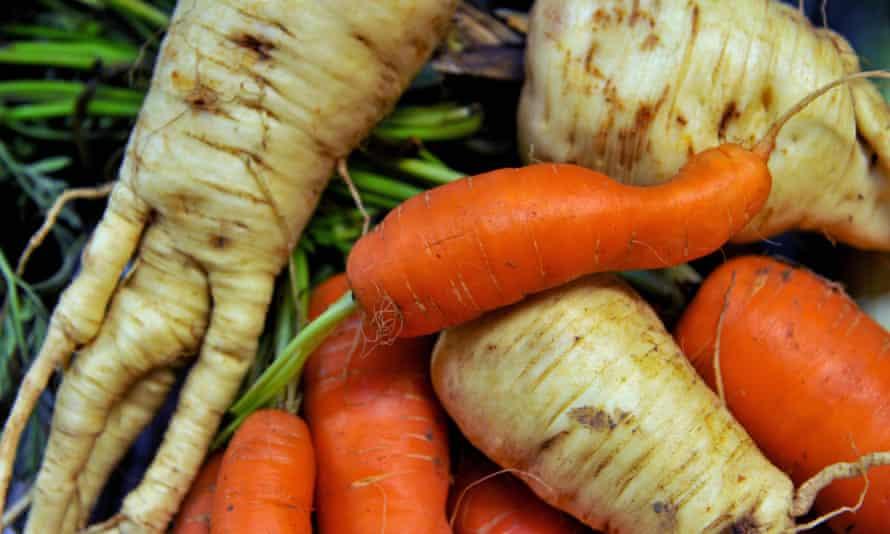 Misshapen carrots and parsnips