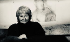 Sheila Oliner in the peaceful oasis that was her St Ives studio in 1993