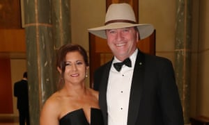 Natalie and Barnaby Joyce arrive for last year's Mid-Winter Ball.