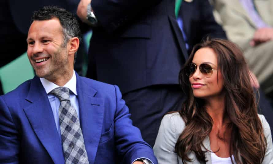 Ryan Giggs and his wife Stacey Cooke attend Wimbledon in 2012.