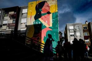 A mural by Israeli artist Untay