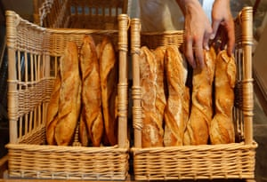 Baguettes in baskets