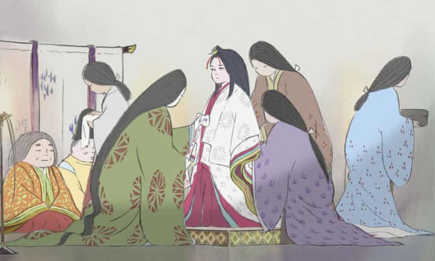 The Tale of the Princess Kaguya, 2013, based on a 10th-century folktale and realised in a style influenced by traditional Japanese ink-wash painting.