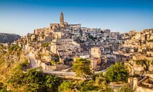 Ancient town of Matera at sunrise, Basilicata,