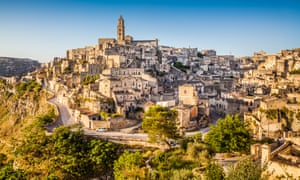 The city of Matera in southern Italy.