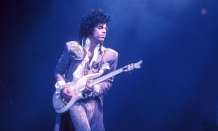 Prince, performing in 1985, in his superstardom heyday.