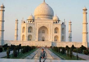 Prince Charles posing outside the Taj Mahal in November 1980