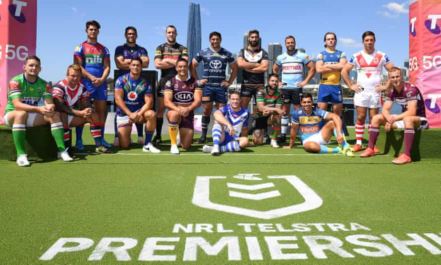Captains of the 16 NRL teams