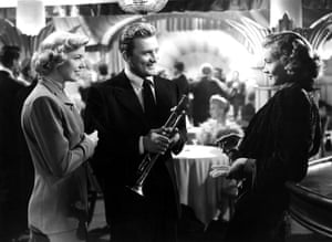 Doris Day, Kirk Douglas and Lauren Bacall in the 1950 movie Young Man with a Horn