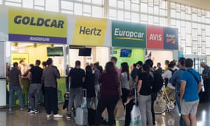 Queues at the car hire desks in Barcelona … but what happens if you are late due to a delayed flight or it is late at night and they're closed?