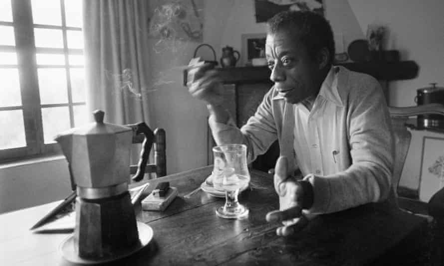 James Baldwin at home in Saint-Paul-de-Vence, southern France, in 1979.