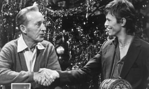 Odd couple … Bing Crosby and David Bowie.