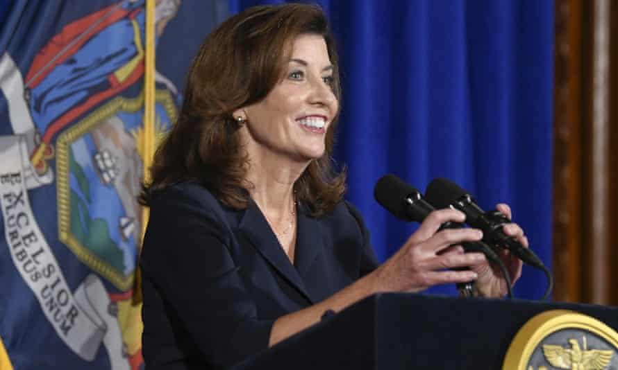 Lieutenant Governor Kathy Hochul speaks at the state Capitol, Wednesday, in Albany, New York.
