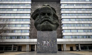 The Karl Marx monument in Chemnitz, Germany, which Kevin Breathnach visits.