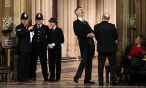 Jacob Rees-Mogg laughing with Iain Duncan Smith