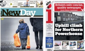 Feeling the heat: i bills itself as 'Britain's only concise quality newspaper' as The New Day hits the newsstands.