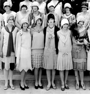 Flappers, with their girlish skirts, bobbed hair and heavy makeup, appeared after the first world war