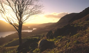 Winter sunset at Glen Trool to Loch Trool
