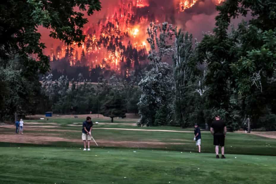 Burning issue: Eagle Creek ablaze near Beacon Rock golf course in North Bonneville, Washington, in September 2017.