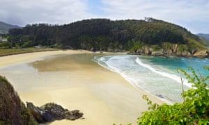 Playa de Xilloi in O Vicedo, Galicia