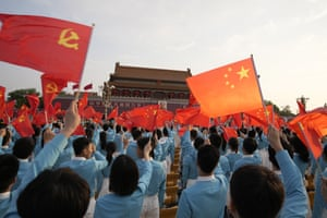Rehearsals for a ceremony at Tiananmen Gate