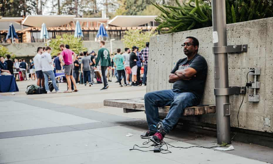 'It's like a rope around my neck': Willard Birts has been made homeless by the costs of paying for his GPS ankle monitor.