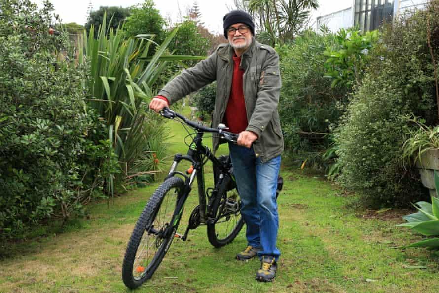 David Yockney and his bike