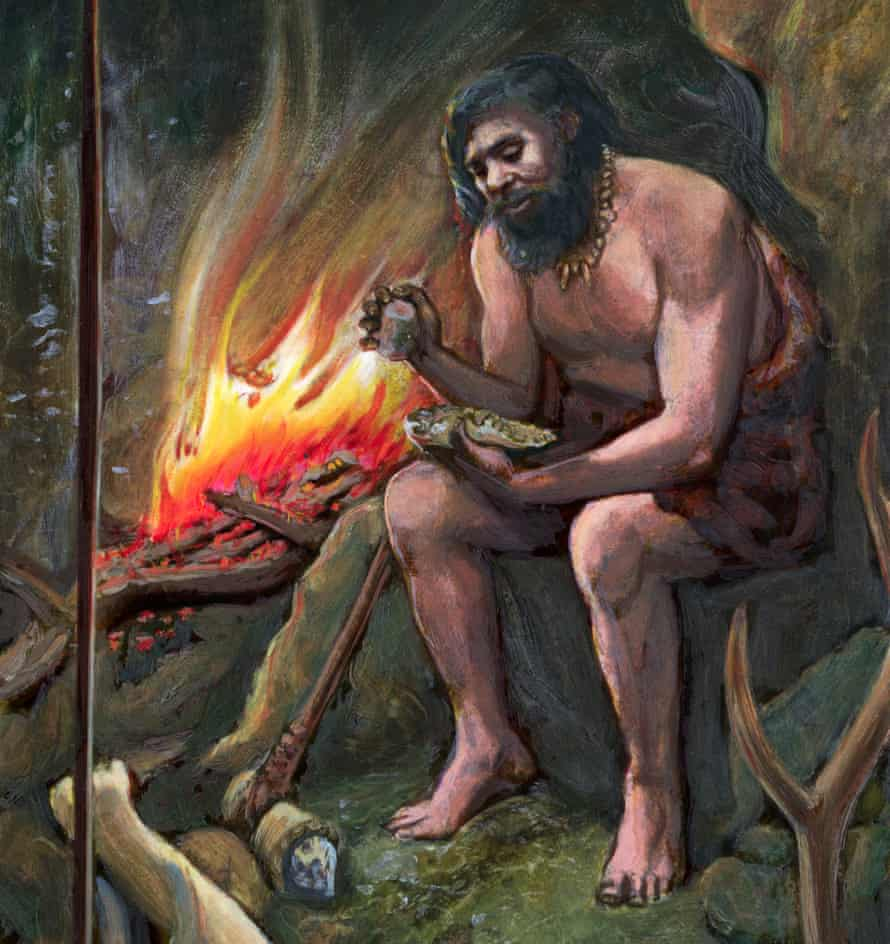 Researchers say early humans may have developed a genetic mutation to deal with cancer-causing hydrocarbons from campfire smoke.
