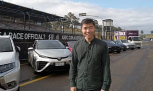 Naaman Zhou takes electric vehicles out for a spin at Sydney Motor Sport Park