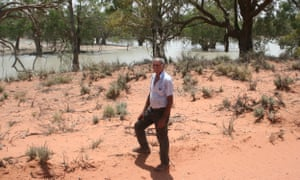 Indigenous elder William 'Badger' Bates was born by the Barka, or Darling River, at Wilcannia.
