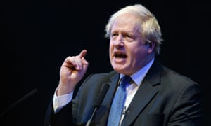 Boris Johnson speaks at the Tory party Conference