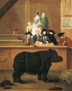 The exhibition of the rhino by Pietro Longhi (1701-1785).
