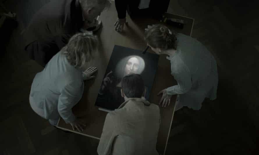 A still from the documentary film The Lost Leonardo.