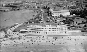 The Midland hotel and the seafront, Morecambe, 1934