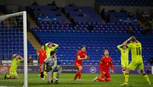 Players from both sides react after Joe Rodon denied the Czech Republic an equaliser.
