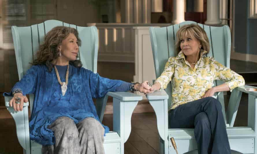 Growing old disgracefully ... Lily Tomlin and Jane Fonda in Grace and Frankie.