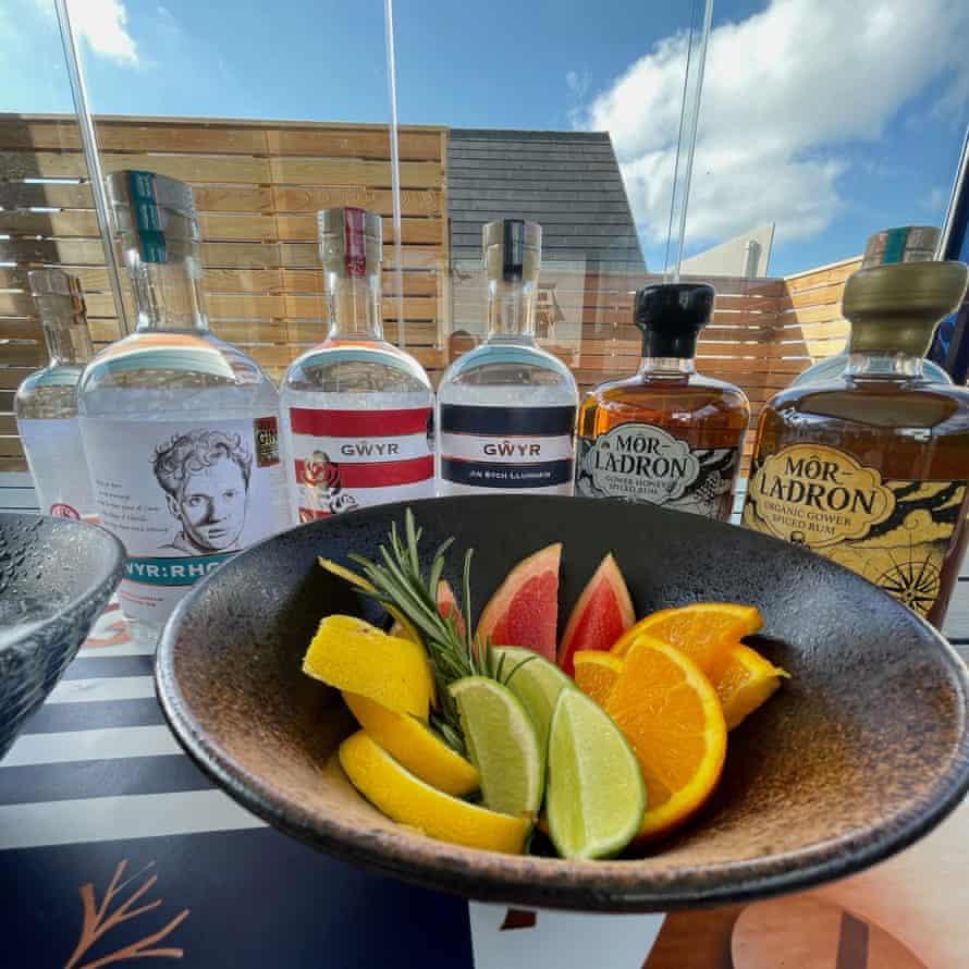 Gower Gin in the tasting room near Port Eynon