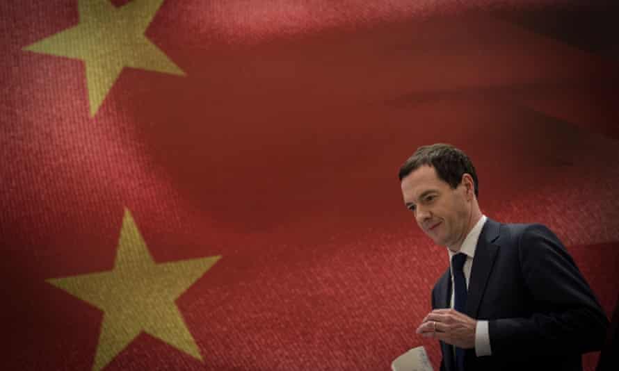 George Osborne in Chengdu, China