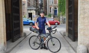 Condell on his round the world bike ride.