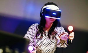 A Sony PlayStation VR headset.