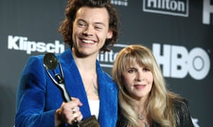 Harry Styles and Stevie Nicks arrive at the Rock and Roll Hall of Fame induction ceremony, New York City, 29 March 2019