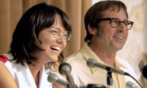 Emma Stone and Steve Carell in the Hollywood film Battle of the Sexes, which is set for release later this year.
