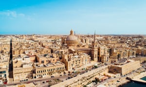 LEAD Aerial view of Valletta