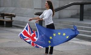 EU supporter in Trafalgar Square