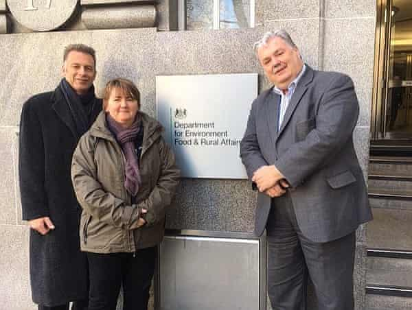 The founders of Wild Justice - Chris Packham, Ruth Tingay and Mark Avery