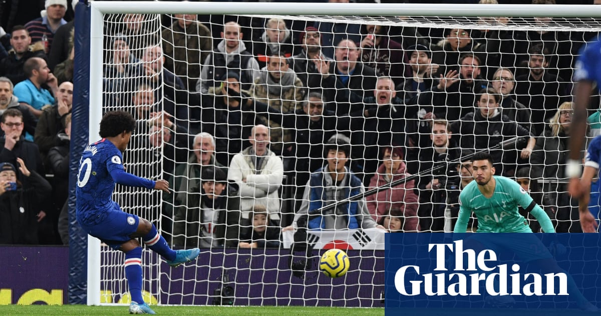 Willian double earns Chelsea win at Tottenham and racism mars game