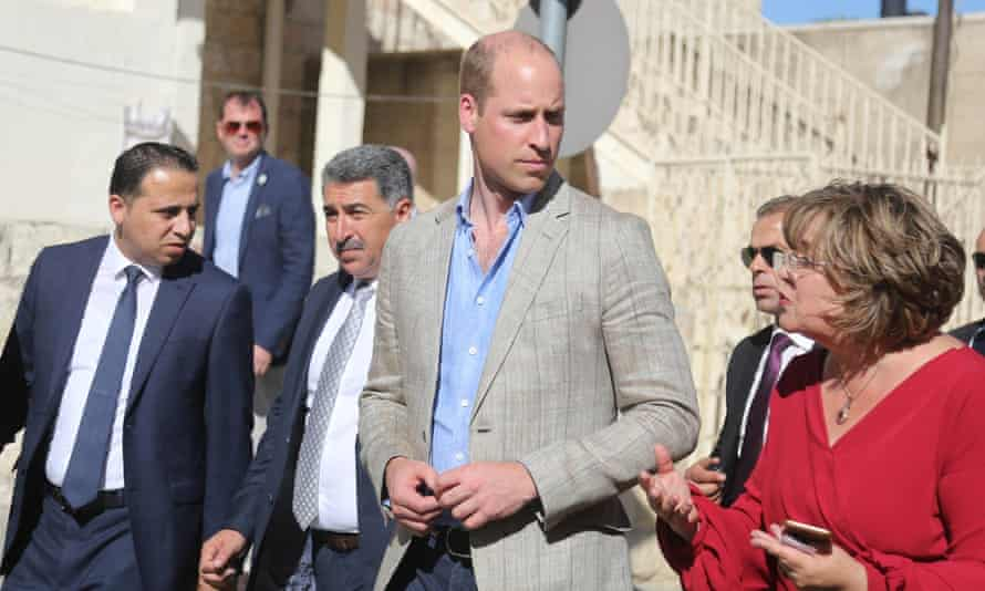 Prince William goes on a walkabout in Ramallah.