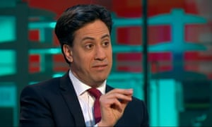 Ed Miliband being interviewed by Evan Davis.