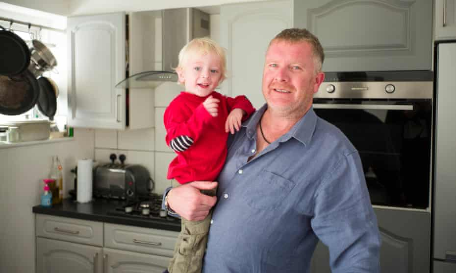Michael Coulson-Tabb and his son.